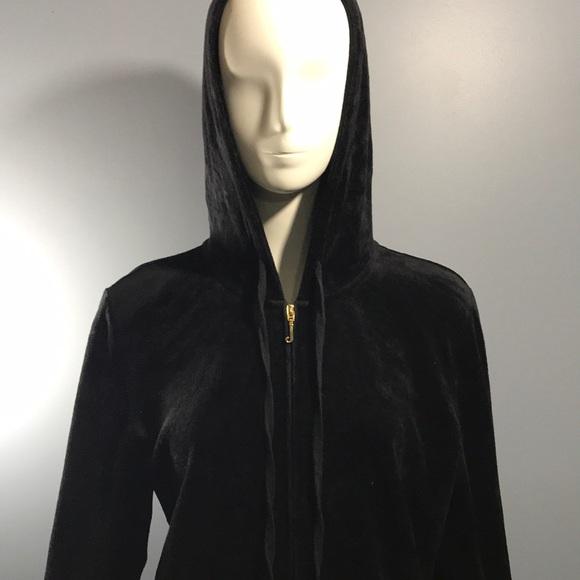 Juicy Couture Tops - Juicy Couture Full Zip Hoodie Size XL Black